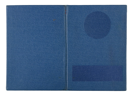 Diploma about of institute with good  estimates cover- blue  imitation leather. Isolated on white