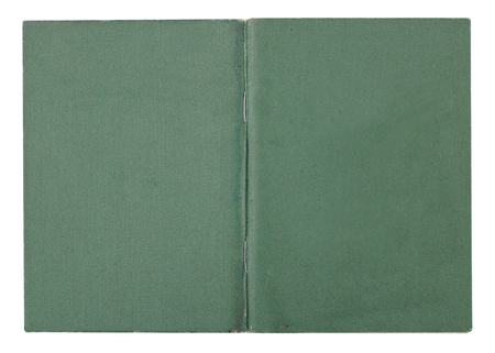 Diploma about of institute with bad  estimates cover- green  imitation leather. Isolated on white
