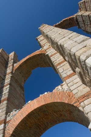 epoch: The Miracles  aqueduct from Roman epoch placed on ancient Roman province Lusitania