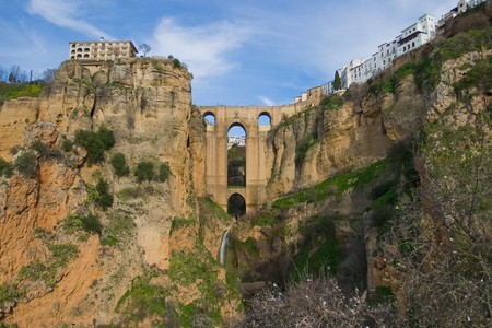 Bridge that divides the city of Ronda