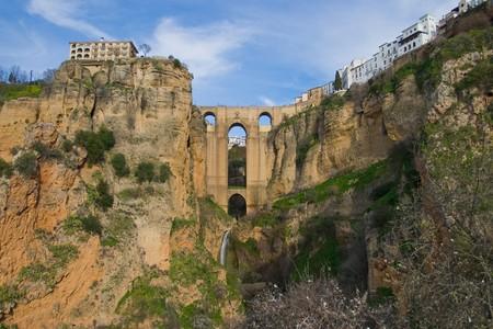Bridge that divides the city of Ronda photo