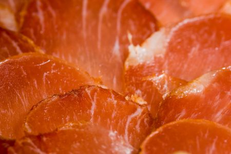 Iberian ready pork loin to taste, cut in slices photo