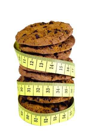 Lot of cookies with a tape measure Stock Photo - 5008459