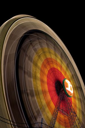 ferriswheel: Ferris wheel on the fair of the Carmen and of the Salt Stock Photo