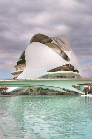 City of Arts and Sciences, we can see the  Palau de les Arts Reina Sofia