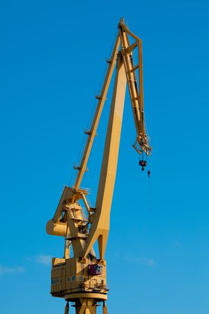 shipbuilder: Detail of a crane of the dockyards of Cádiz