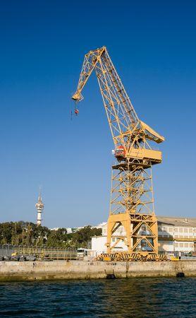Naval crane of the dockyards of the port of C�diz