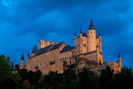 Fantastic castle and residence  of kings of  the medieval epoch Stock Photo - 7315207
