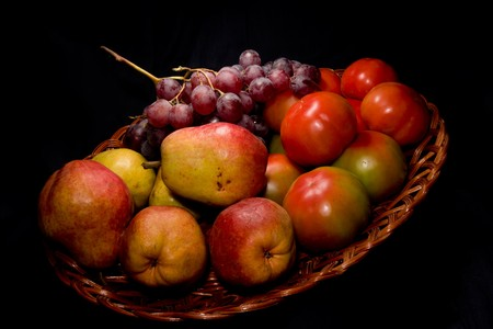 Composition or still life of exquisite natural fruits