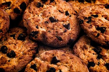 Lot of tasty chocolate cookies photo