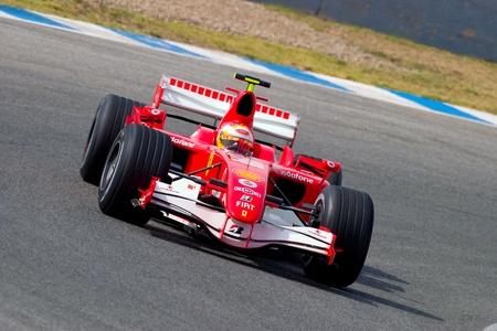 JEREZ DE LA FRONTERA, SPAIN -  OCT 10: Luca Badoer of Scuderia Ferrari F1 on October 10 , 2006 on training session in Jerez de la Frontera , Spain