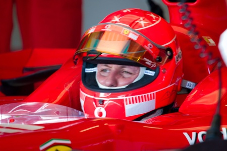 michael schumacher: JEREZ DE LA FRONTERA, SPAIN -  OCT 11: Michael Schumacher of Scuderia Ferrari F1 on October 11 , 2006 on training session in Jerez de la Frontera , Spain