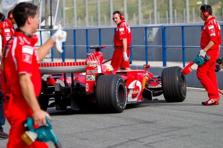 ferrari: JEREZ DE LA FRONTERA, SPAIN -  OCT 10: Marc Gene of Scuderia Ferrari F1 on October 10 , 2006 on training session in Jerez de la Frontera , Spain Editorial