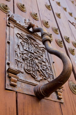 Detail Of An Ornate Door Knocker On The Door Of A Building Stock Photo,  Picture And Royalty Free Image. Image 9107478.