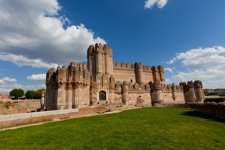 Wonderful castle in a great status of conservation of Cocas city in Segovia photo