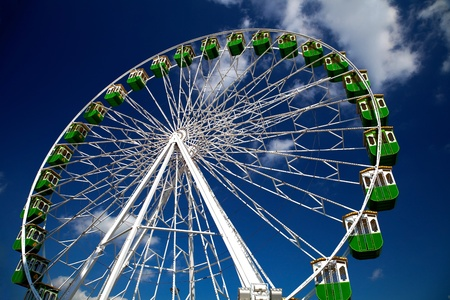 Ferris wheel on the fair of Jerez de la Frontera photo