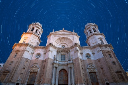 Wonderful cathedral of neoclassical style of ancient city of Cadiz Stock Photo - 9328042