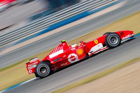 car race track: JEREZ DE LA FRONTERA, SPAIN -  OCT 10: Luca Badoer of Scuderia Ferrari F1 on October 10 , 2006 on training session in Jerez de la Frontera , Spain