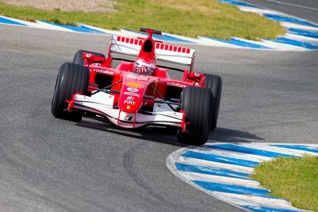 JEREZ DE LA FRONTERA, SPAIN -  OCT 10: Marc Gene of Scuderia Ferrari F1 on October 10 , 2006 on training session in Jerez de la Frontera , Spain
