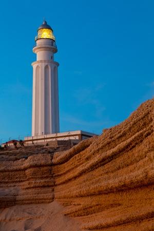 Wonderful lighthouse known as Trafalgar's lighthouse at the province of Cadiz Stock Photo - 9485777