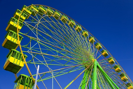 fun fair: Ferris wheel on the fair of El Puerto de Santa Maria