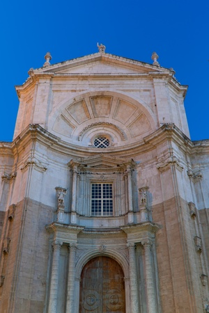 Wonderful cathedral of neoclassical style of ancient city of Cadiz photo