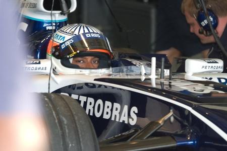 f1: JEREZ DE LA FRONTERA, SPAIN -  OCT 11: Narain Karthikeyan of Williams F1 on October 11 , 2006 on training session in Jerez de la Frontera , Spain Editorial