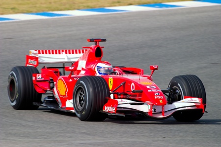 marc: JEREZ DE LA FRONTERA, SPAIN -  OCT 10: Marc Gene of Scuderia Ferrari F1 on October 10 , 2006 on training session in Jerez de la Frontera , Spain Editorial
