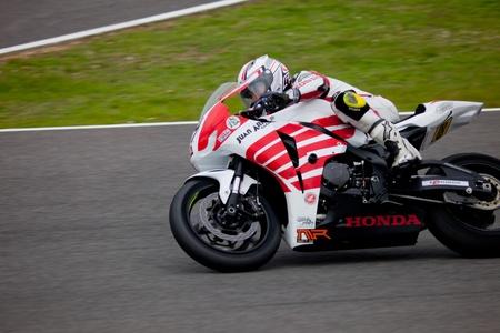 JEREZ DE LA FRONTERA, SPAIN - NOV 20: Stock Extreme motorcyclist Steve Trujillo races in the CEV championship on Nov 20, 2010, in Jerez de la Frontera, Spain Stock Photo - 10006837