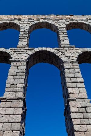 epoch: Wonderful aqueduct of Roman epoch, placed at Segovia