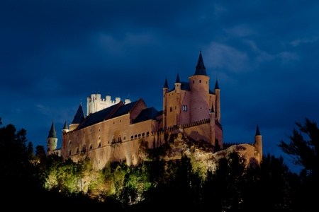 Fantastic castle and residence  of kings of  the medieval epoch Stock Photo