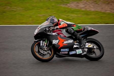 moto gp: JEREZ DE LA FRONTERA, SPAIN - NOV 20: 125cc motorcyclist Pedro Rodriguez races in the CEV championship on Nov 20, 2010, in Jerez de la Frontera, Spain