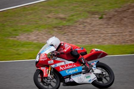 moto gp: JEREZ DE LA FRONTERA, SPAIN - NOV 20: 125cc motorcyclist Miguel Oliveira races in the CEV Championship on Nov 20, 2010, in Jerez de la Frontera, Spain