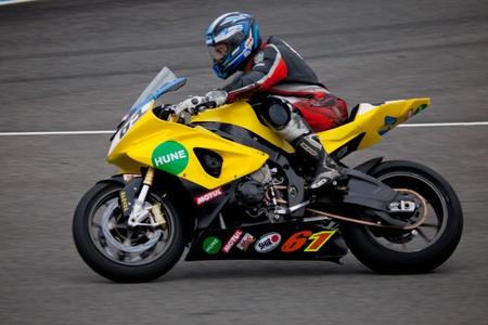 cev: JEREZ DE LA FRONTERA, SPAIN - NOV 20: Stock Extreme motorcyclist Felix Rodriguez races in the CEV championship on Nov 20, 2010, in Jerez de la Frontera, Spain Editorial