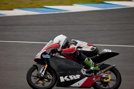 moto gp: JEREZ DE LA FRONTERA, SPAIN - NOV 20: 125cc Motorcyclist Samuel Hornsey races in the CEV championship on Nov 20, 2010, in Jerez de la Frontera, Spain