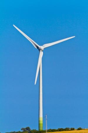 energy production: Typical windmill or aerogenerator of aeolian energy