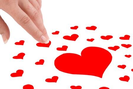 blanco: Muchos corazones para elegir y tomarlo en la mano - A lot of hearts to elect and to take it in the hand
