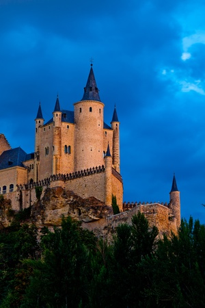 epoch: Fantastic castle and residence  of kings of  the medieval epoch Stock Photo