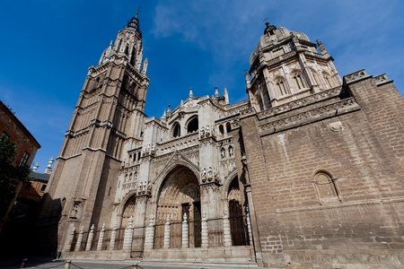 toledo town: Cathedral of Gothic style of the marvelous city of Toledo, Spain