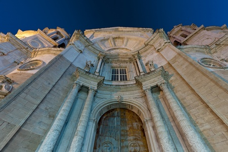 Wonderful cathedral of neoclassical style of ancient city of C�diz photo
