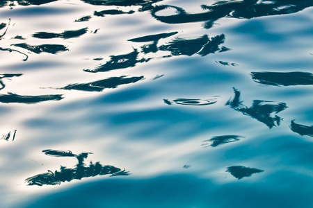 Abstract composition of the water of a swimming pool and its reflections photo