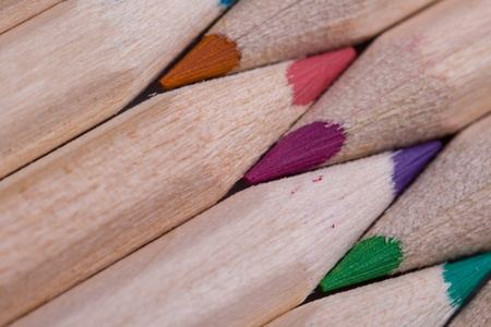 A composition of pencils of wood in a variety of colors Stock Photo - 11102451