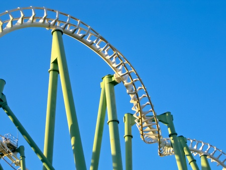 A Roller Coaster in Amusement Park photo