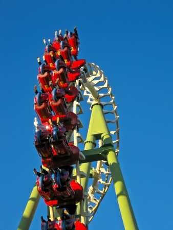 A Roller Coaster in Amusement Park Stock Photo - 11331116