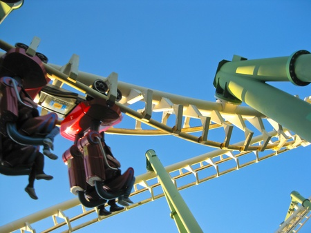 A Roller Coaster in Amusement Park