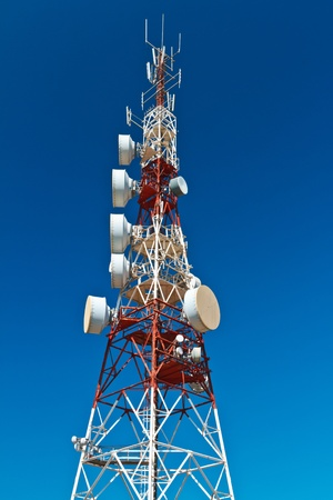 Communications tower with a beautiful blue sky Stock Photo - 11711420