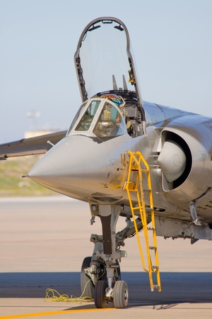 aeronautics: Military aircraft assigned to the combat and other warlike functions Stock Photo