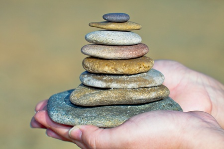 Zen Stones on the hands Stock Photo - 11711754