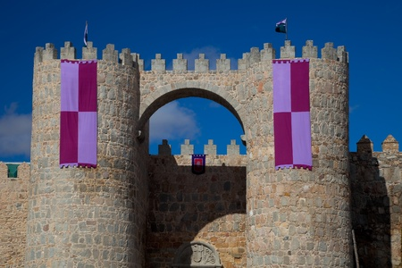 Wonderful medieval outer wall that protects and surrounds the city of Avila photo