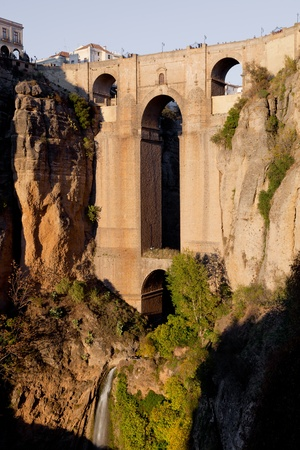 Bridge that divides the city of Ronda photo